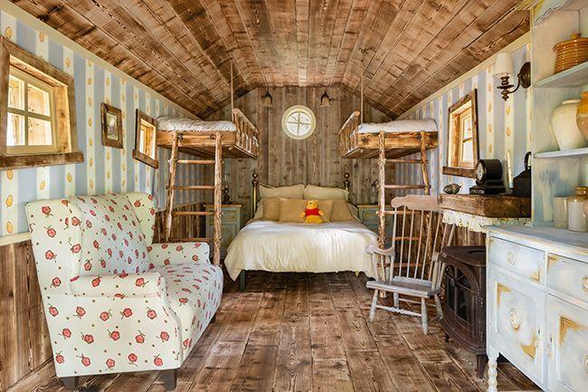 Dormir dans la maison de Winnie l'Ourson.