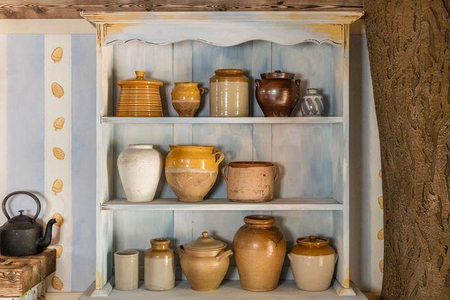 Les pots de miel de la maison de Winnie l'ourson.