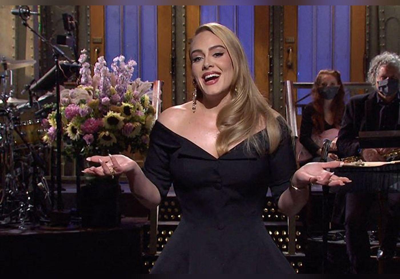 Adele métamorphosée : elle dévoile sa silhouette amincie dans une robe de somptueuse et présente son nouveau chéri