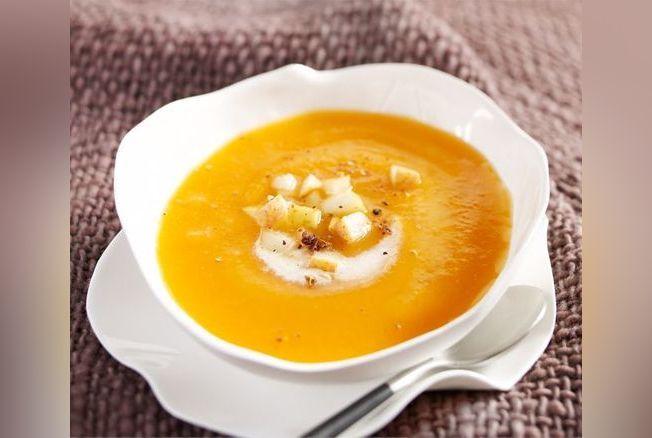 velout de poire et de potiron recette soupe d 39 hiver version femina. Black Bedroom Furniture Sets. Home Design Ideas