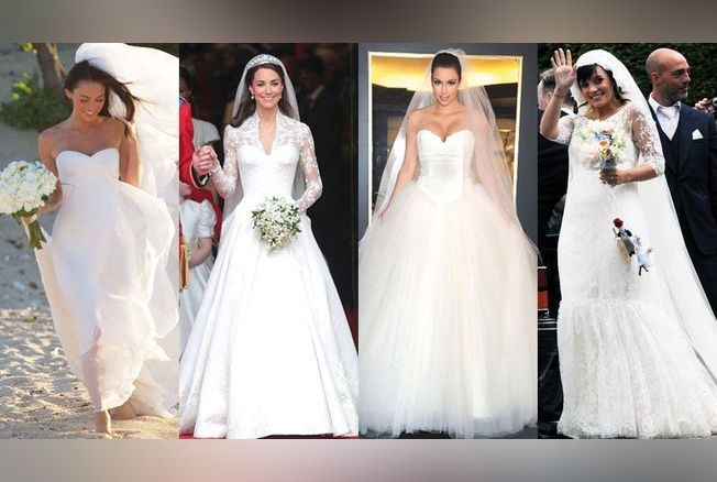 Robes de mariée de stars : les tops et les