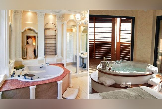 11 chambres romantiques avec jacuzzi privatif. Black Bedroom Furniture Sets. Home Design Ideas