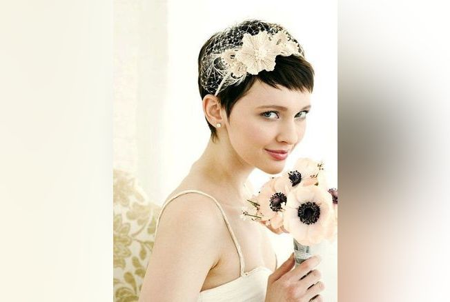 Idee coiffure mariage cheveux tres courts