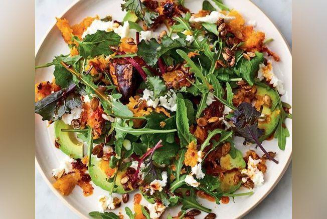 Jamie oliver sa recette de la salade de courge butternut - Recette de jamie oliver sur cuisine tv ...