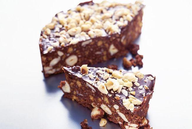 Croquants au chocolat et aux noisettes