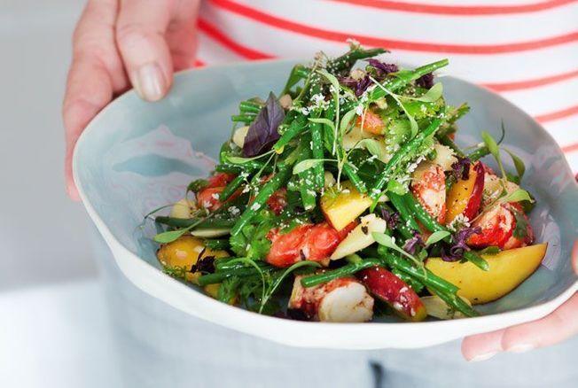 Salade de crevettes d'Hélène Darroze
