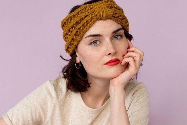 tuto tricot le headband facile de charlotte sometime. Black Bedroom Furniture Sets. Home Design Ideas