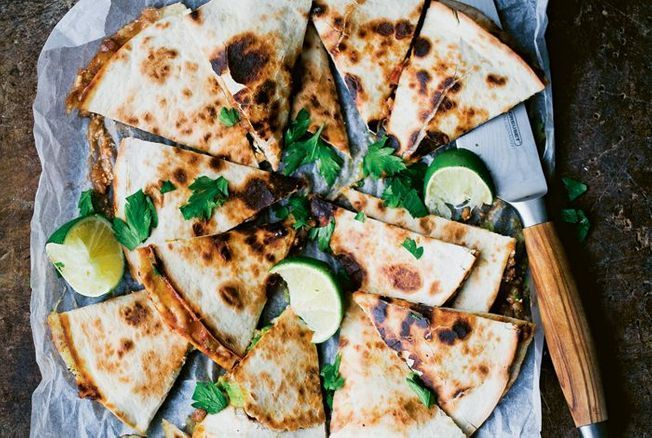 Quesadillas à l'avocat et aux portobellos de Green Kitchen