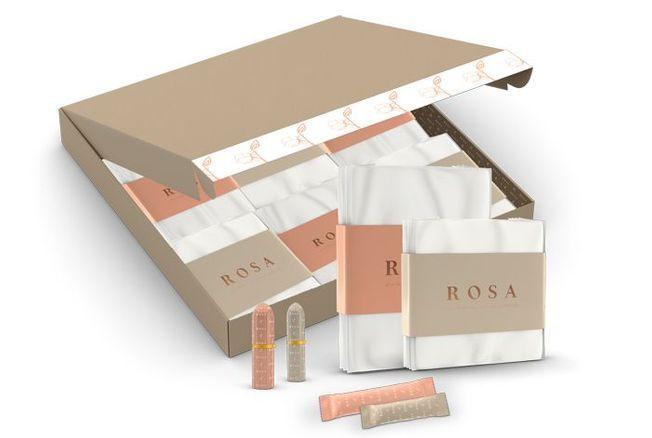 Rosa, la nouvelle box de tampons et serviettes bio